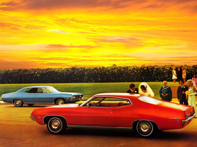 1971 Ford Torino 500 muscle classic wallpaper