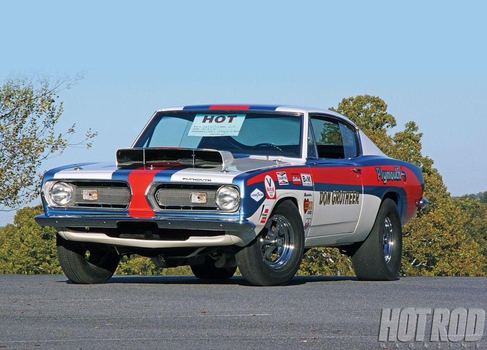 1968 Plymouth Hemi Super Stock Barracuda cuda muscle classic drag racing race hot rod rods wallpaper