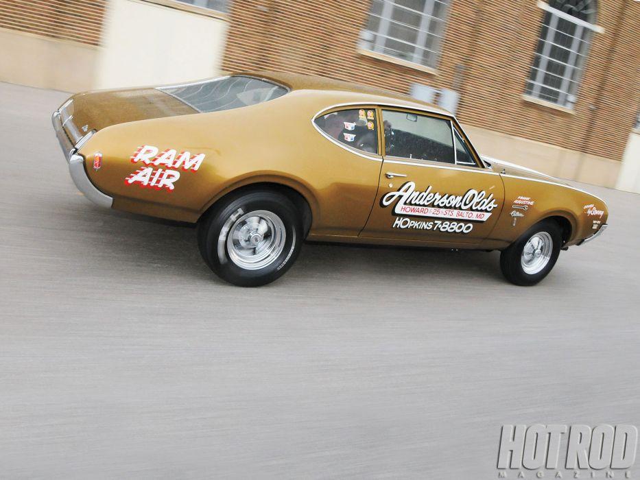 1969 Oldsmobile Cutlass W-31 350ci muscle hot rod rods drag race racing classic wallpaper