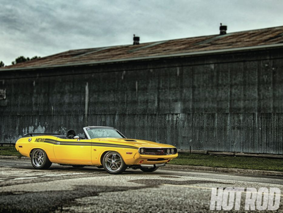 1970 dodge challenger convertible hemi muscle classic hot rod rods wallpaper