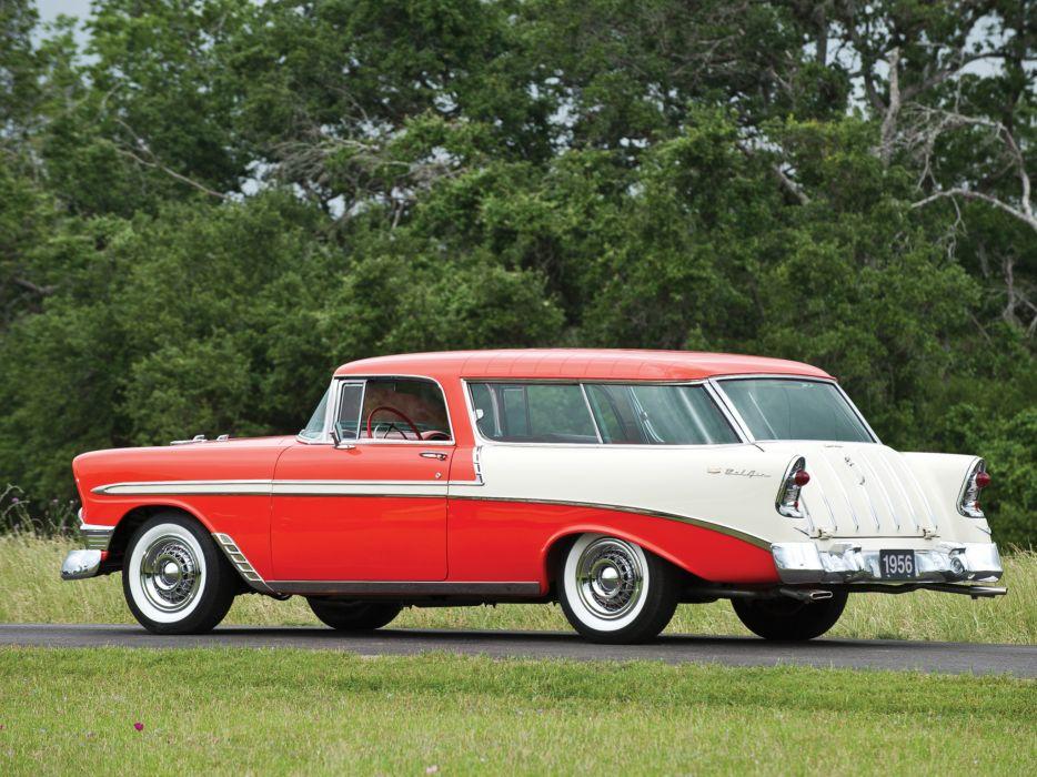 1956 Chevrolet Bel Air Nomad retro stationwagon     d wallpaper
