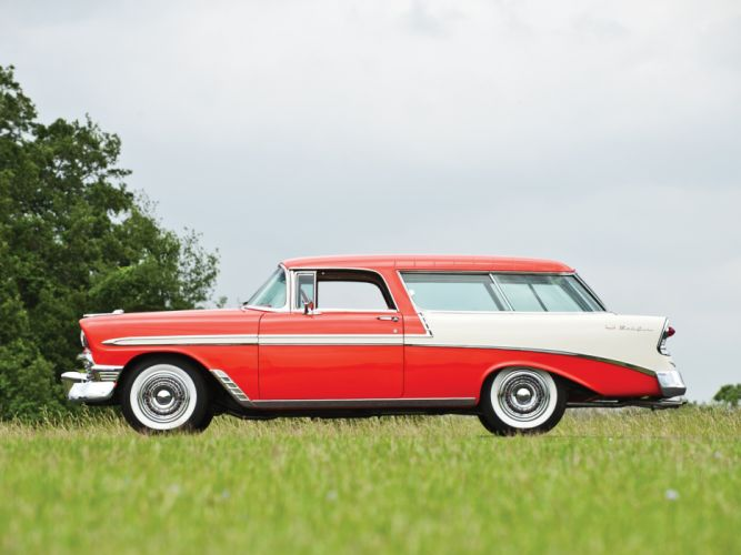 1956 Chevrolet Bel Air Nomad retro stationwagon r wallpaper