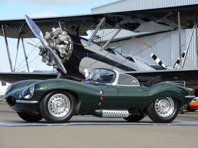 1957 Jaguar XK-SS retro supercar supercars airplane aircraft plane wallpaper