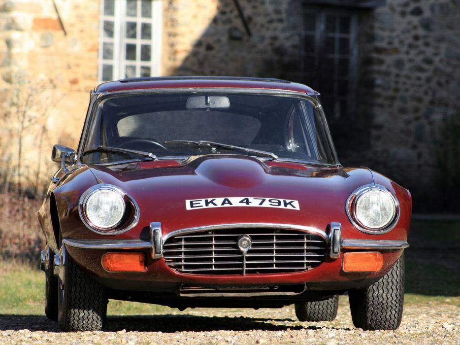 1971 Jaguar E-Type V12 Fixed-Head Coupe UK-spec classic supercar supercars   gd wallpaper