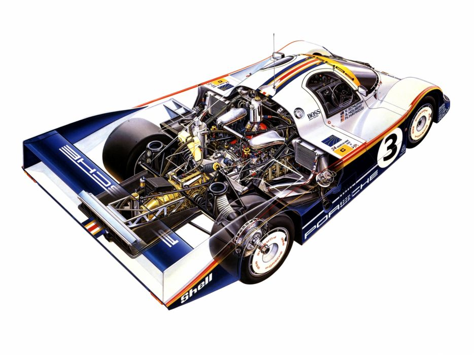 1983 Porsche 956 C Coupe classic race racing engine engines wallpaper