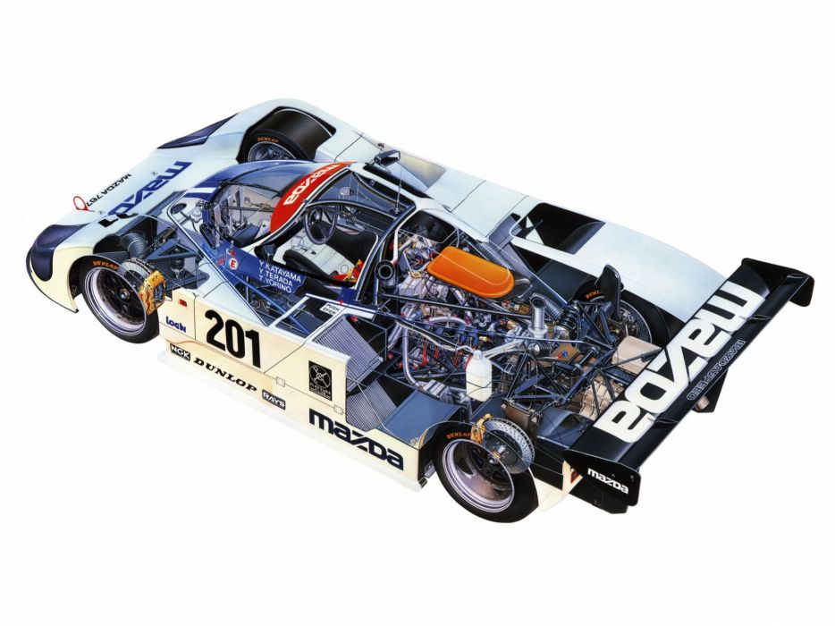 1989 Mazda 767B race racing classic interior engine engines         d wallpaper