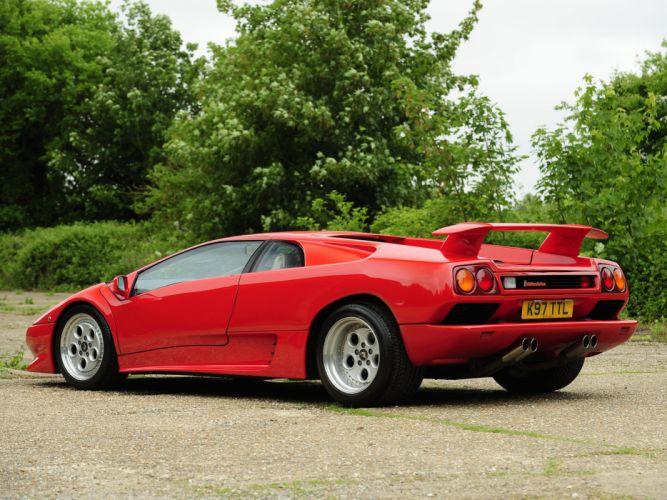 1990 Lamborghini Diablo UK-spec supercar supercars wallpaper
