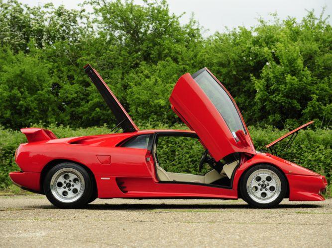 1990 Lamborghini Diablo UK-spec supercar supercars interior d wallpaper