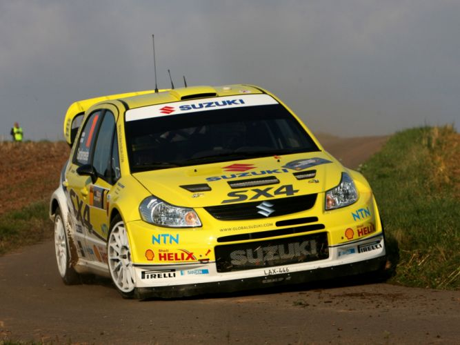 2008 Suzuki SX4 WRC race racing rally f wallpaper