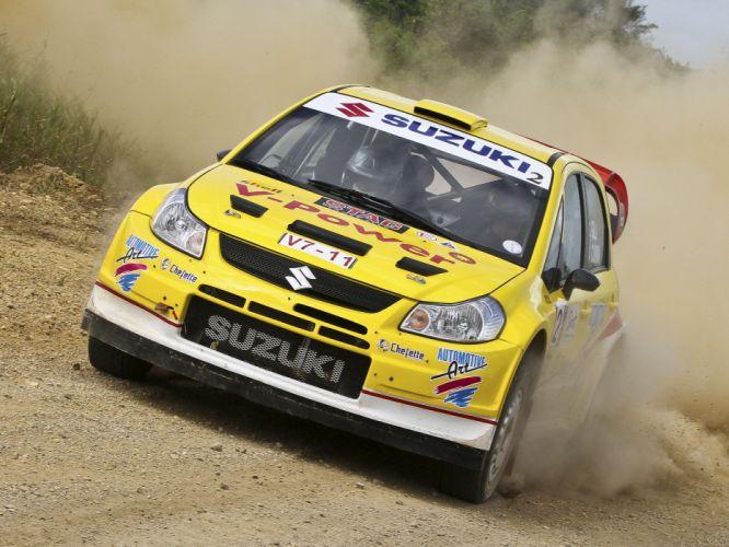 2008 Suzuki SX4 WRC race racing rally y wallpaper