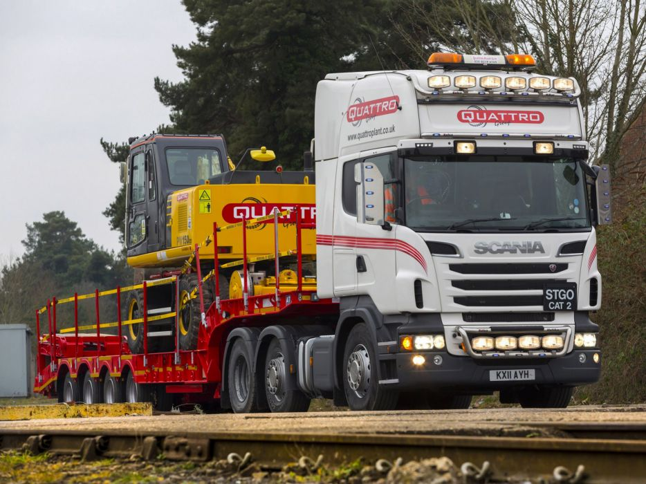 2009 Scania R580 6x2 Topline UK-spec semi tractor rig transport wallpaper