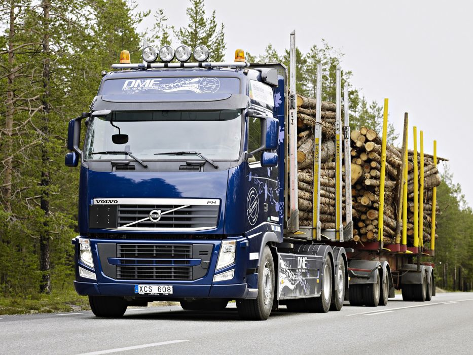 2010 Volvo FH D13 Bio-DME 6x2 Timber Truck semi tractor rig wallpaper