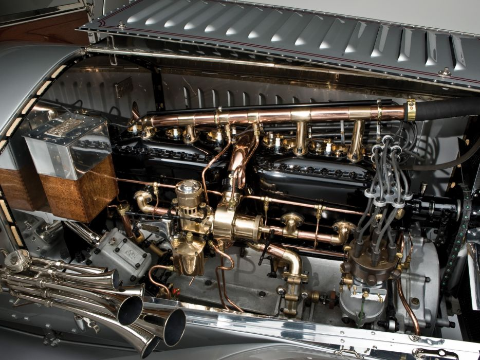 1915 Rolls Royce Silver Ghost L-E Tourer luxury retro engine engines      gf wallpaper