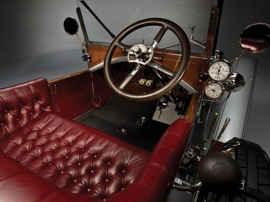1915 Rolls Royce Silver Ghost L-E Tourer luxury retro interior wallpaper