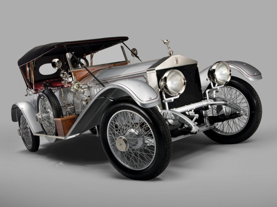 1915 Rolls Royce Silver Ghost L-E Tourer luxury retro wheel wheels       e wallpaper