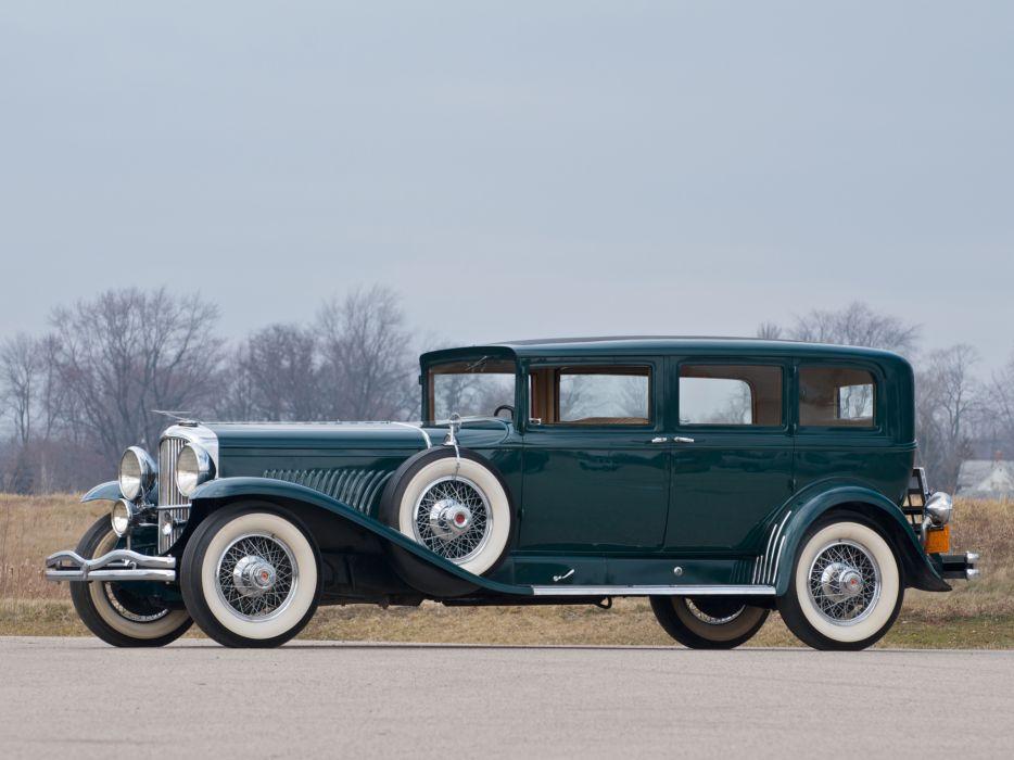 1930 Duesenberg J 383-2401 Limousine Willoughby retro luxury wallpaper