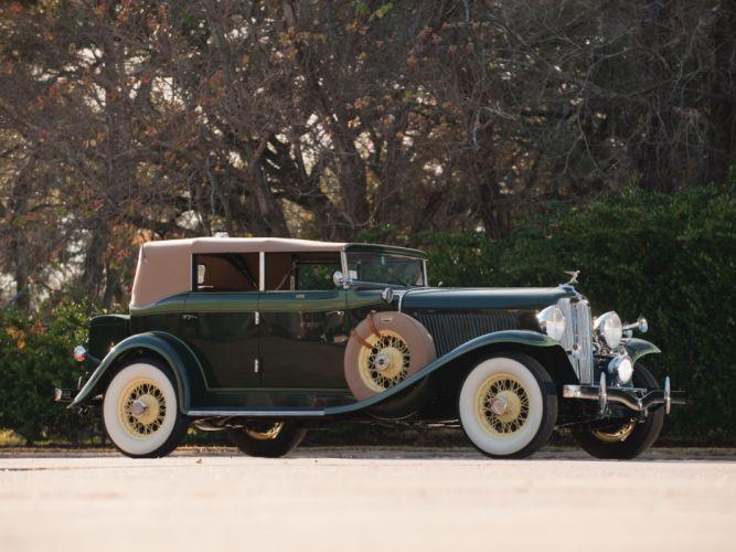 1932 Auburn 8-100A Custom Phaeton retro luxury wallpaper