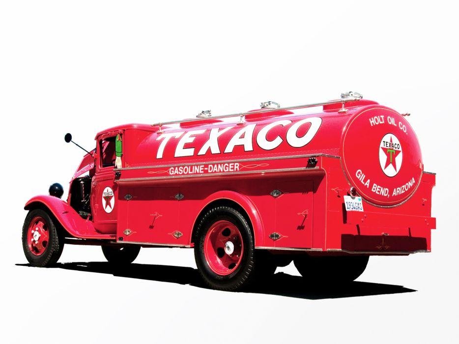 1934 Ford Model-BB Tanker truck retro wallpaper