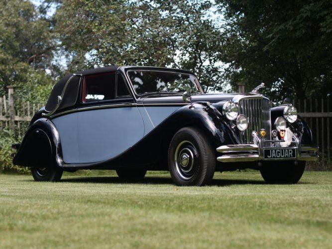 1948 Jaguar Mark-V Drophead Coupe luxury retro fa wallpaper