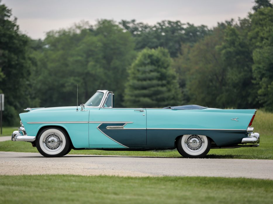 1956 Plymouth Belvedere Convertible P29-3 retro luxury    d wallpaper
