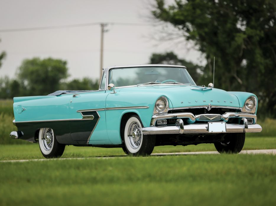 1956 Plymouth Belvedere Convertible P29-3 retro luxury   f wallpaper