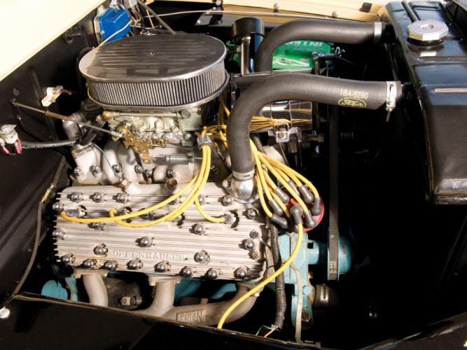 1949 Mercury Eight StationWagon retro engine engines f wallpaper