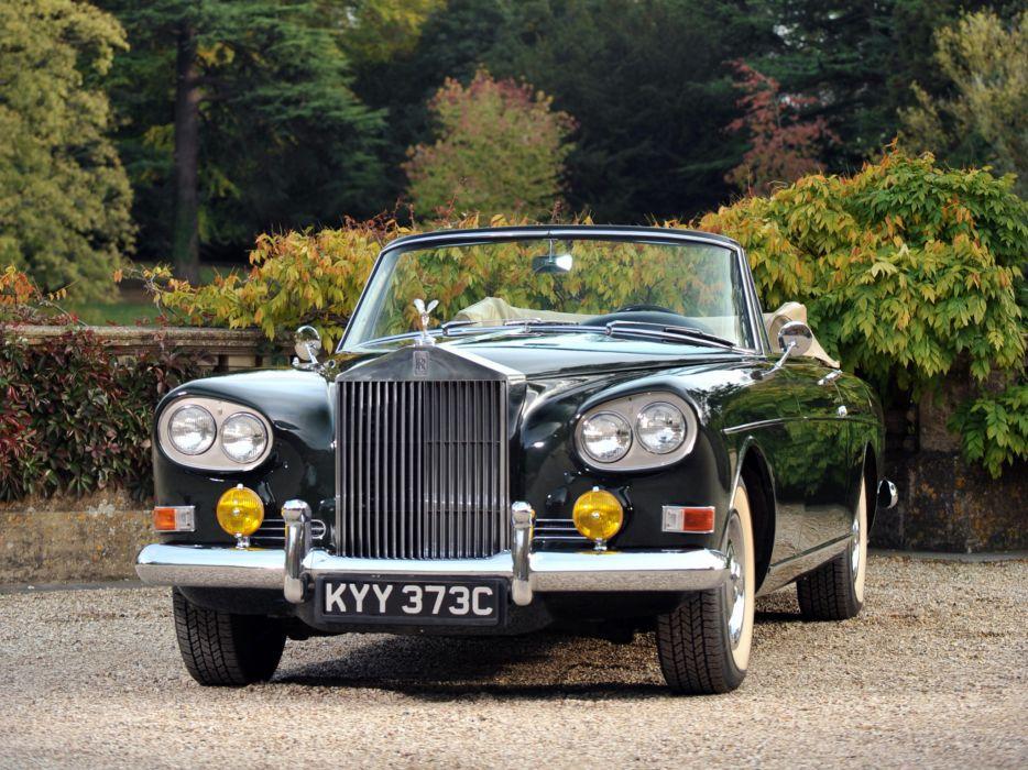 1966 Rolls Royce Silver Cloud Mulliner Park Ward Drophead Coupe III luxury classic    j wallpaper