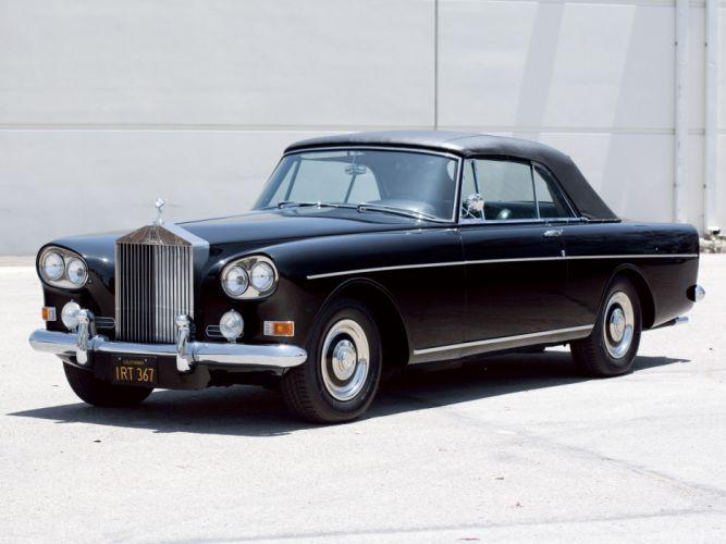 1966 Rolls Royce Silver Cloud Mulliner Park Ward Drophead Coupe III luxury classic g wallpaper