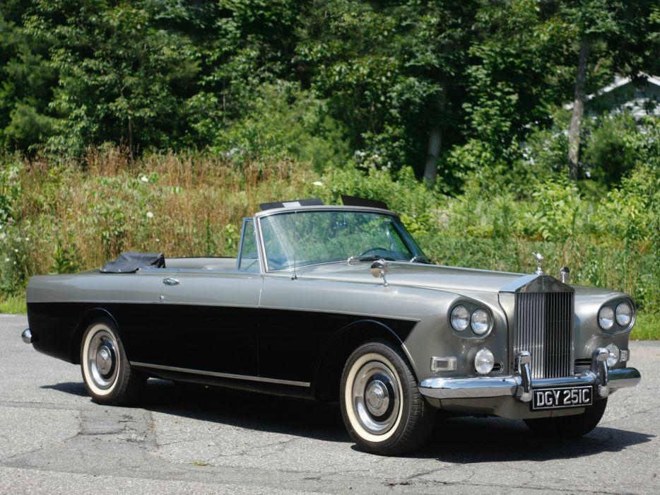 1966 Rolls Royce Silver Cloud Mulliner Park Ward Drophead Coupe III luxury classic  f wallpaper