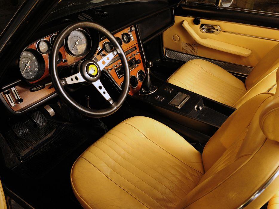 1968 Ferrari 365 G-T 2+2 US-spec supercar supercars classic interior wallpaper