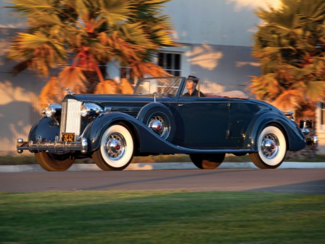 1935 Packard Twelve Coupe Roadster Dietrich 1207-839 luxury retro g wallpaper