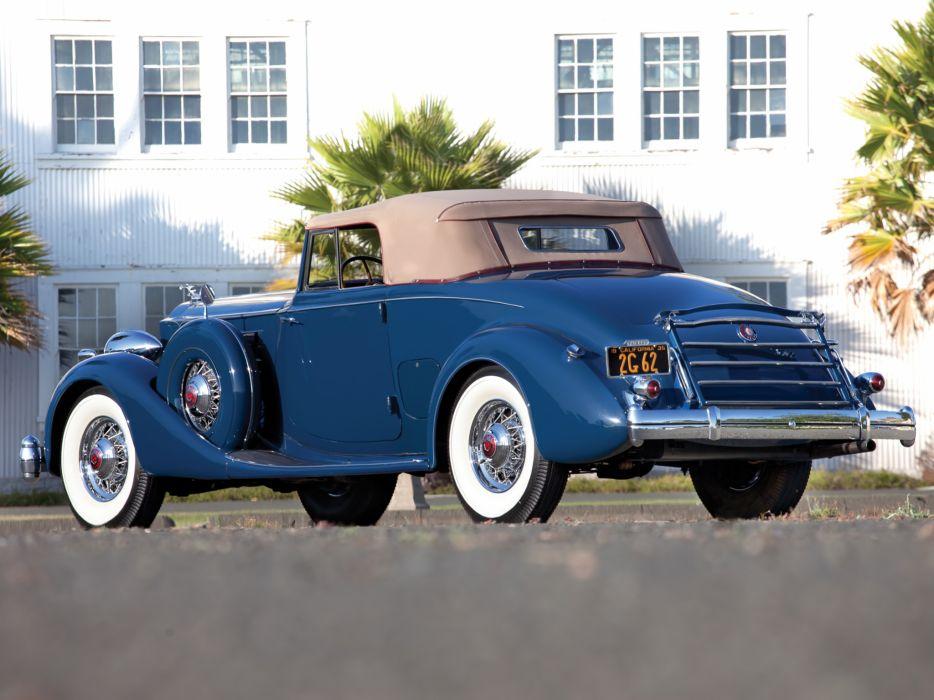 1935 Packard Twelve Coupe Roadster Dietrich 1207-839 luxury retro  g wallpaper