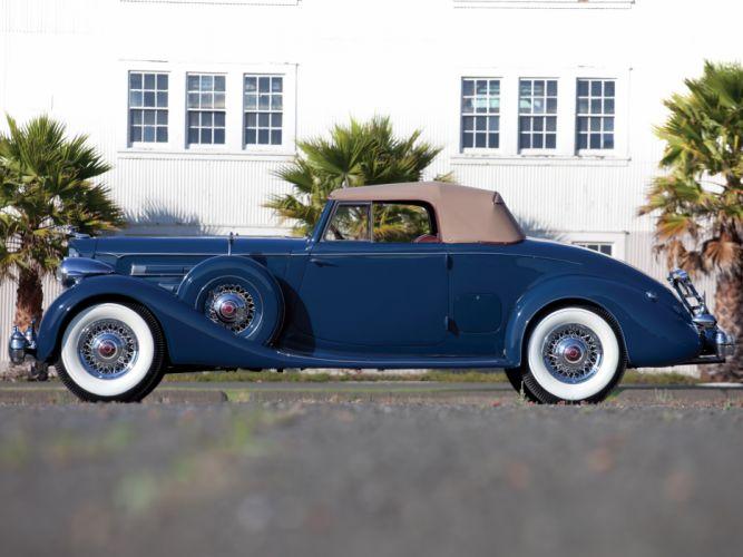 1935 Packard Twelve Coupe Roadster Dietrich 1207-839 luxury retro f wallpaper