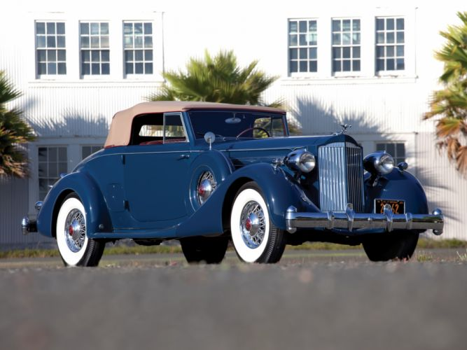 1935 Packard Twelve Coupe Roadster Dietrich 1207-839 luxury retro wallpaper