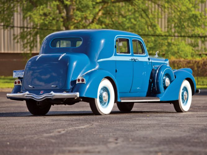 1936 Pierce Arrow Deluxe 8 Club Sedan luxury retro f wallpaper