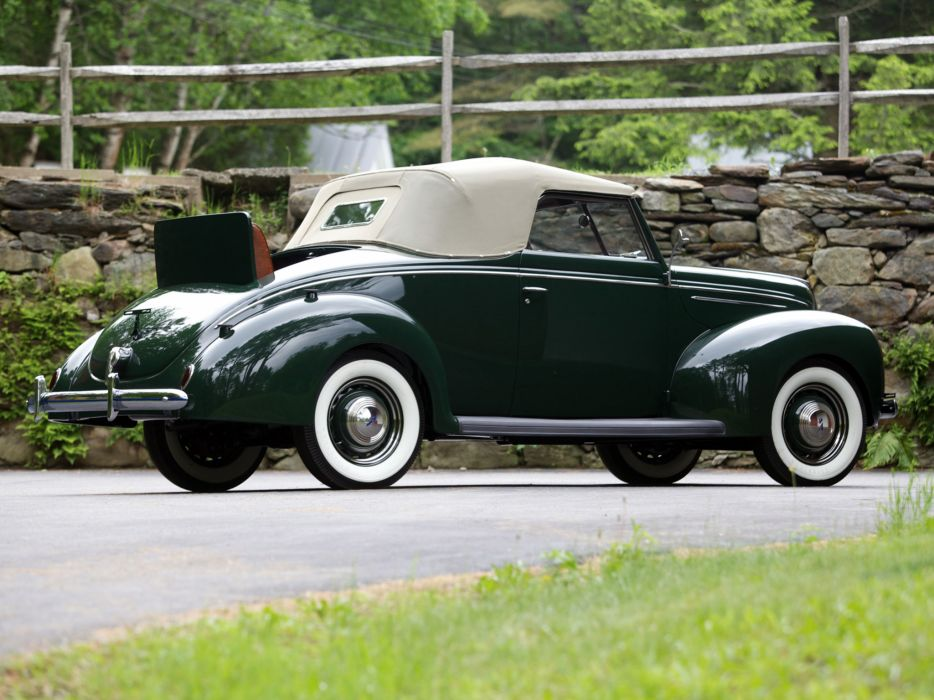 1939 Ford V8 Deluxe Convertible Coupe retro v-8    hh wallpaper