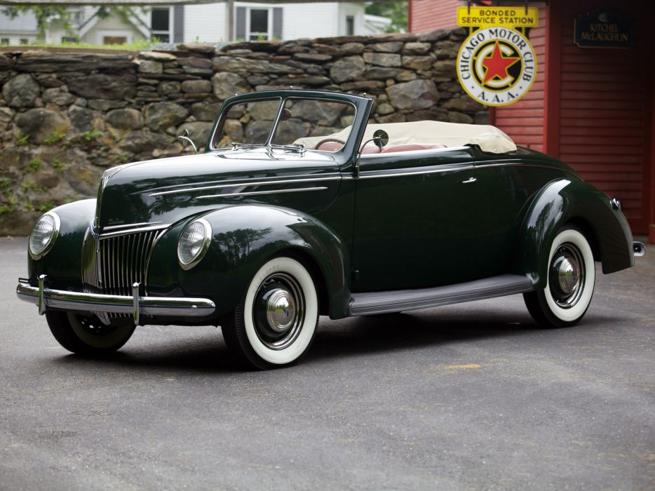 1939 Ford V8 Deluxe Convertible Coupe retro v-8   h wallpaper
