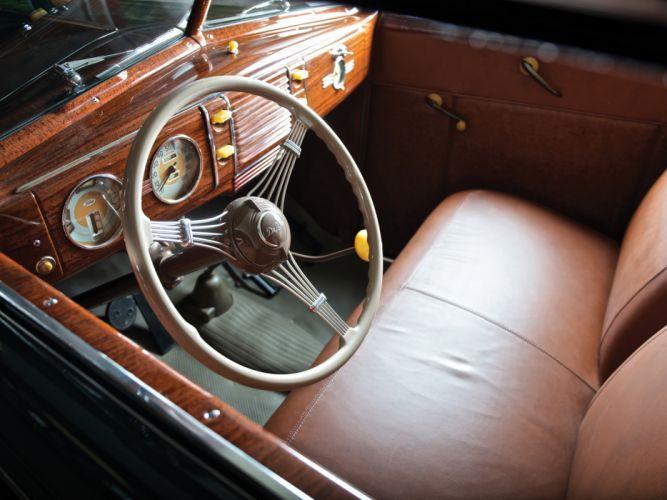 1939 Ford V8 Deluxe Convertible Coupe retro v-8 interior wallpaper