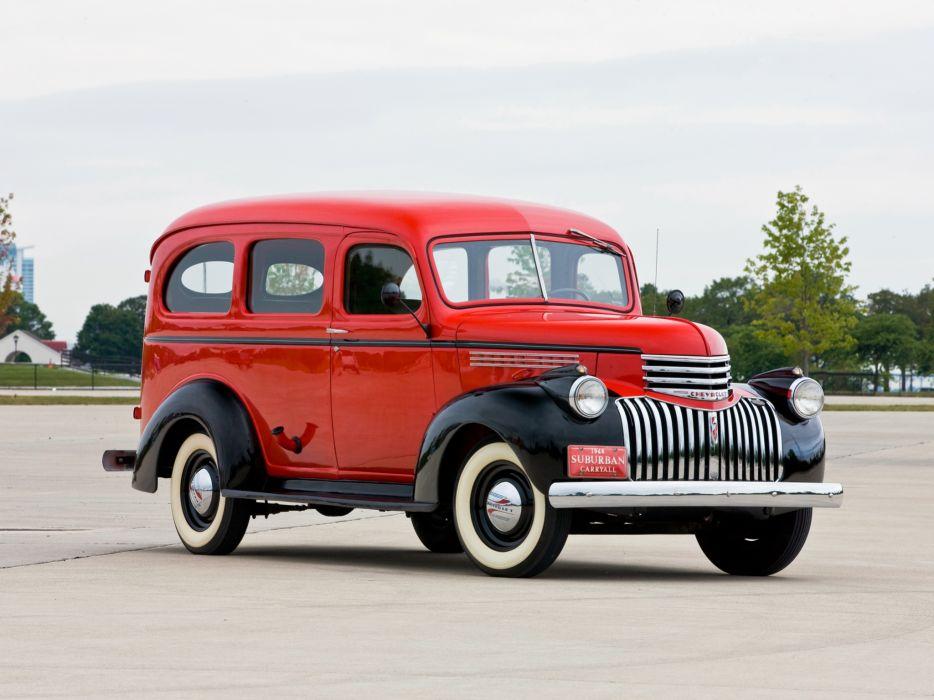 1946 Chevrolet Carryall Suburban retro truck      g wallpaper
