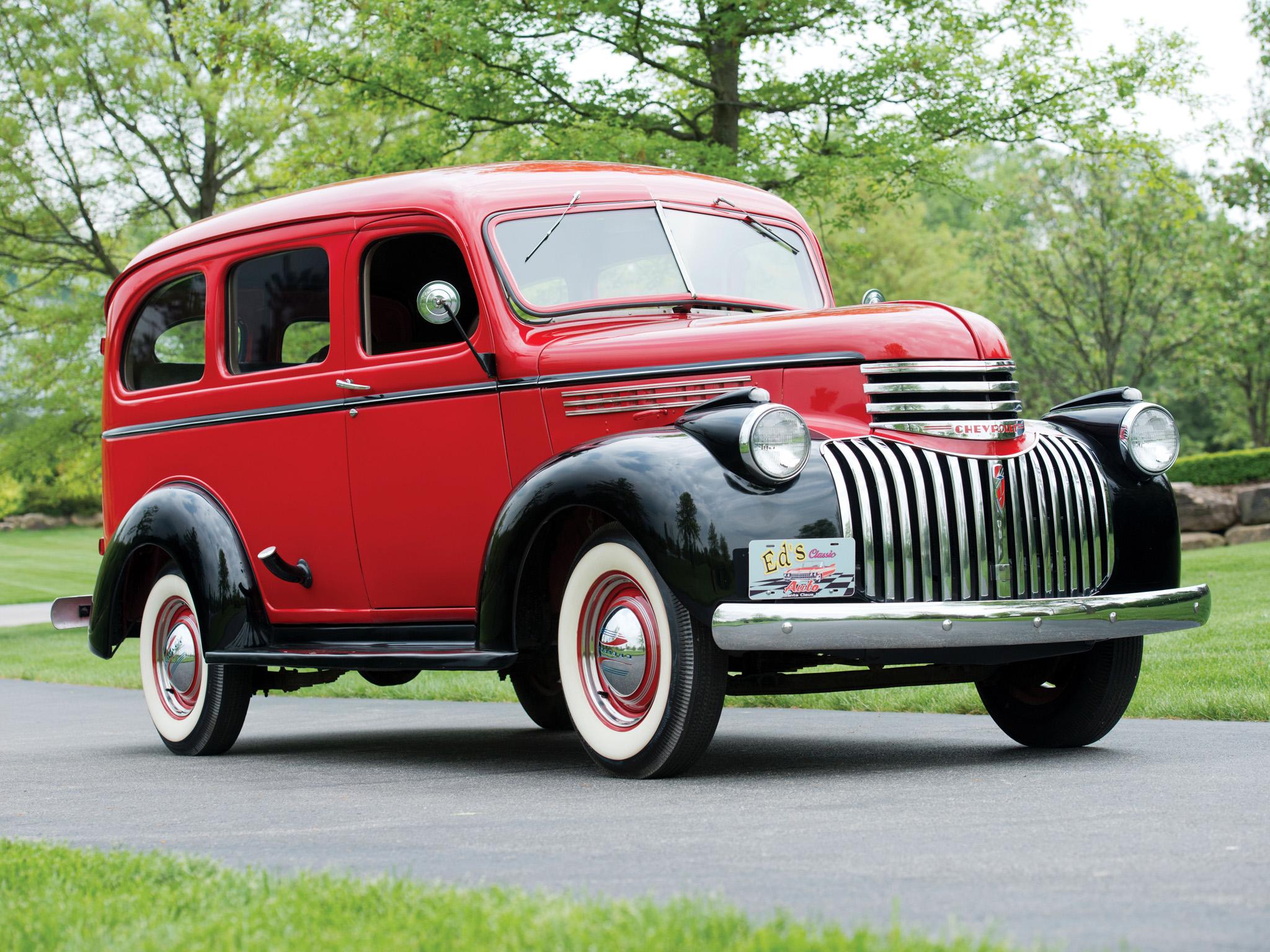 1946 Chevrolet Carryall Suburban Retro Truck G Wallpaper 2048x1536 1941 Chevy Station Wagon 115557 Wallpaperup