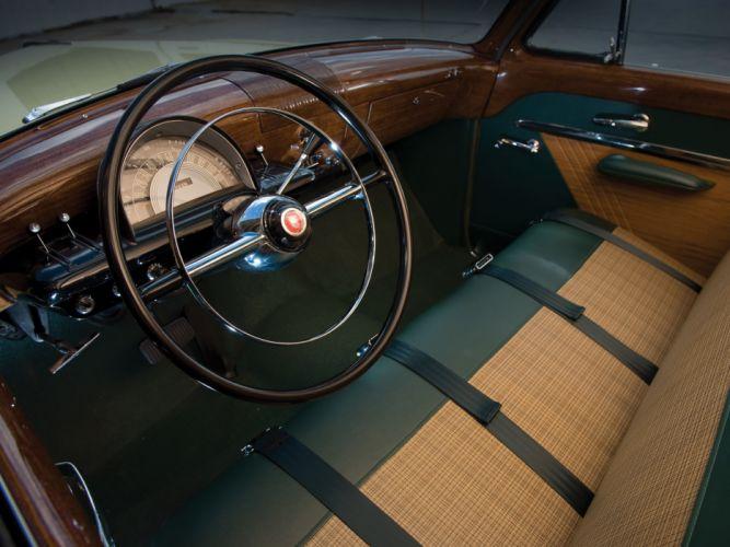 1952 Mercury Custom StationWagon retro interior wallpaper