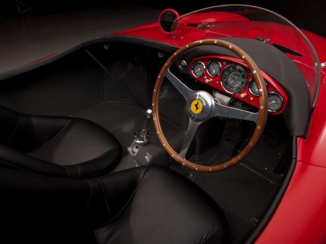1954 Ferrari 750 Monza supercar supercars retro race racing interior wallpaper