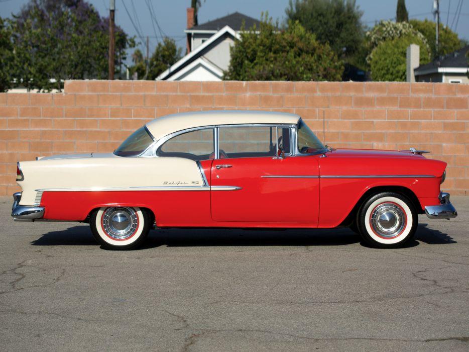 1955 Chevrolet Bel Air Sport Coupe 2454-1037D retro     g wallpaper