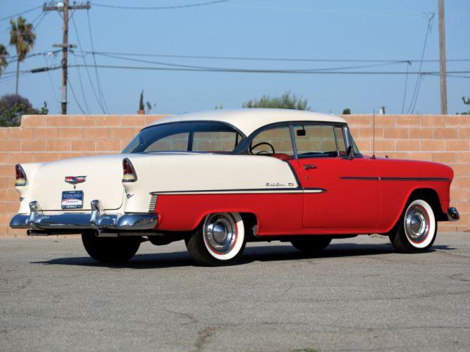 1955 Chevrolet Bel Air Sport Coupe 2454-1037D retro j wallpaper