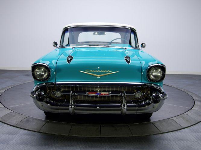 1957 Chevrolet Bel Air Convertible Fuel Injection 2434-1067D retro f wallpaper