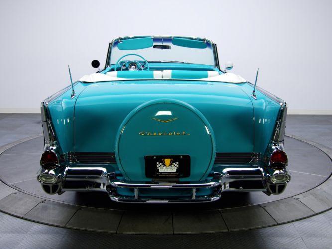1957 Chevrolet Bel Air Convertible Fuel Injection 2434-1067D retro g wallpaper