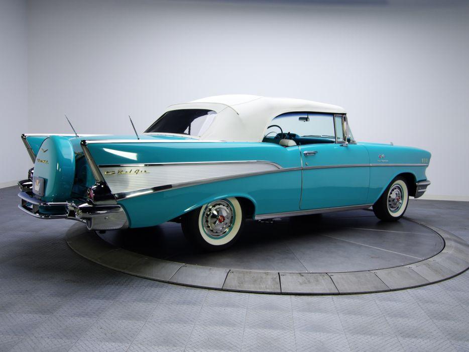 1957 Chevrolet Bel Air Convertible Fuel Injection 2434-1067D retro    gw wallpaper