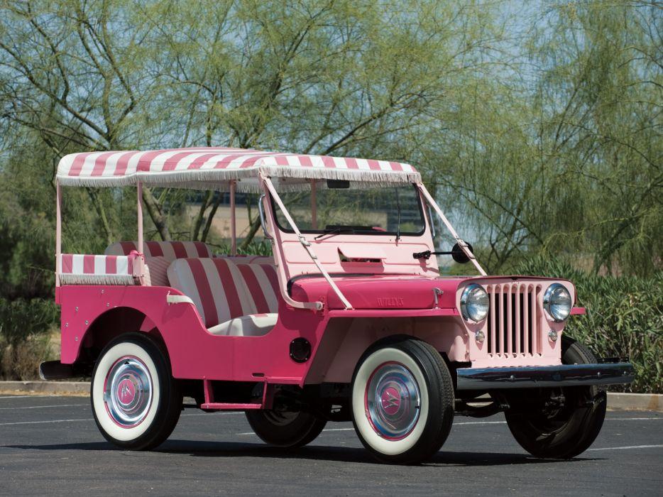 1959 Willys Jeep Surrey DJ-3A retro 4x4  g wallpaper