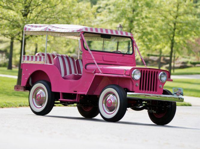 1959 Willys Jeep Surrey DJ-3A retro 4x4 h wallpaper