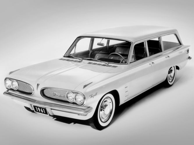 1961 Pontiac Tempest Safari stationwagon classic wallpaper